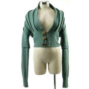Diesel Women's Sweater Size Medium Wool Green